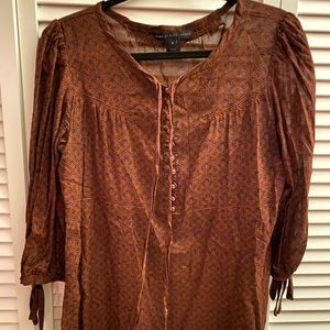 Marc Jacobs brown blouse